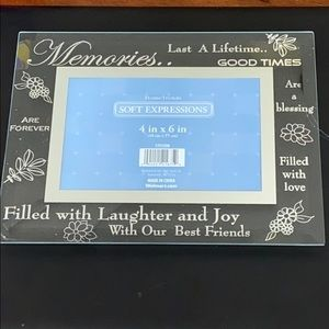 """Glass 4"""" x 6"""" picture frame"""